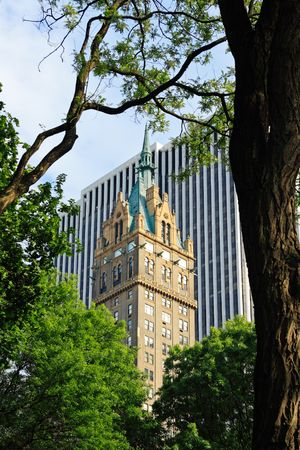 Manhattan buildings, from Central Park - New York City, USA Stock Photo - 3409080