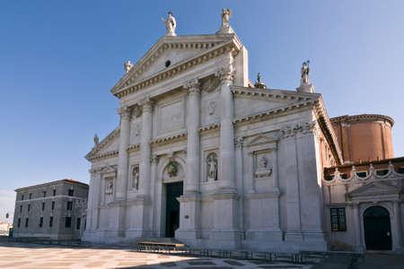 16th: Facade of San Giorgio di Maggiore church  16th century  - Venice, Venezia, Italy, Europe