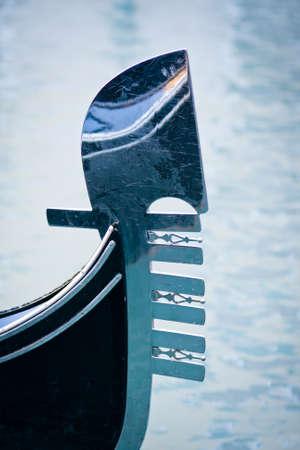Gondolas moored at Bacino Orseolo - Venice, Venezia, Italy, Europe