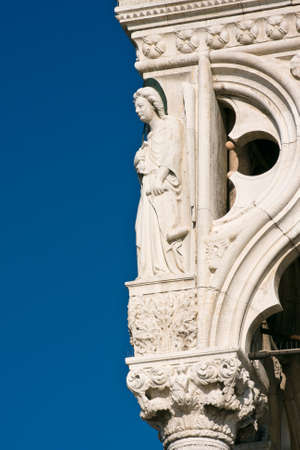 piazza san marco: Architecture detail of Palazzo Ducale (Doges Palace) - Venice, Venezia, Italy, Europe Editorial