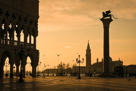 doges: Palazzo Ducale (Doges Palace) at dawn - Venice, Venezia, Italy, Europe
