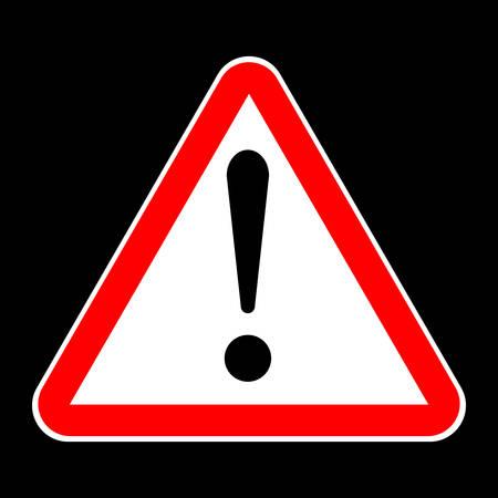 Attention sign traffic black