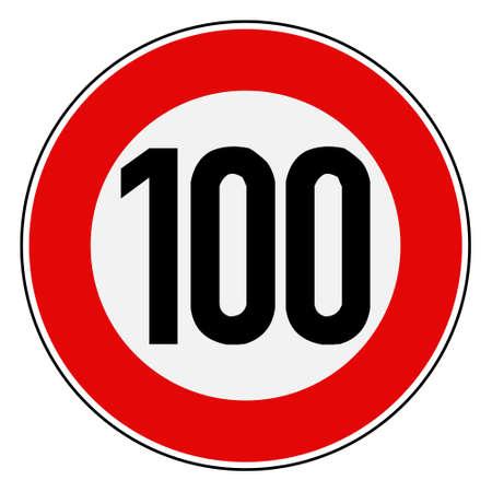 Speed limit 100  イラスト・ベクター素材