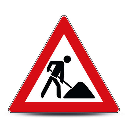 Construction worker sign