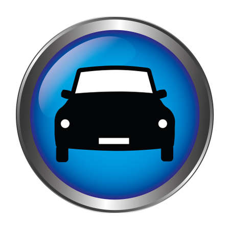 Car Button blue Stock Illustratie