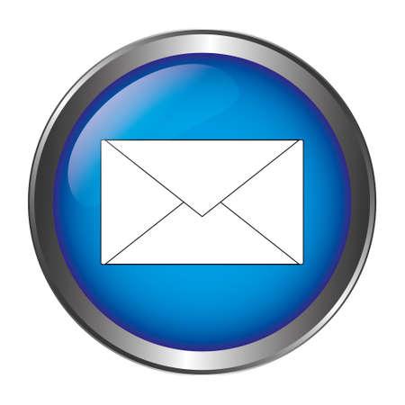 Letter button blue Banque d'images - 129468528