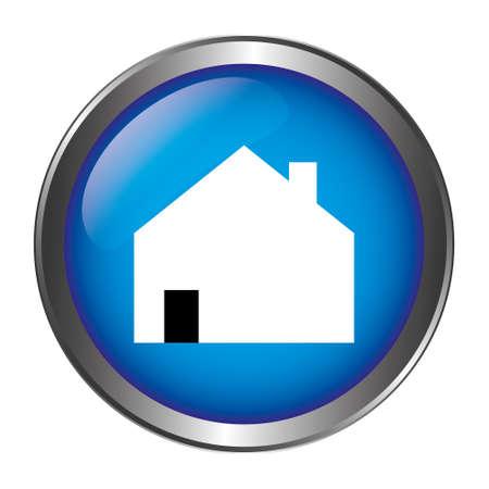 House button blue