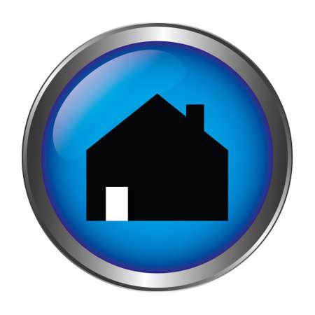 Home button blue Ilustração