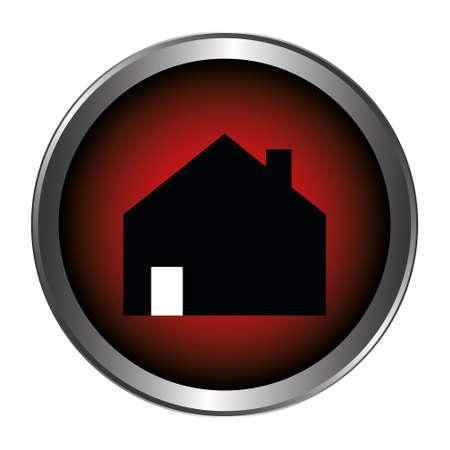 House button red Ilustração