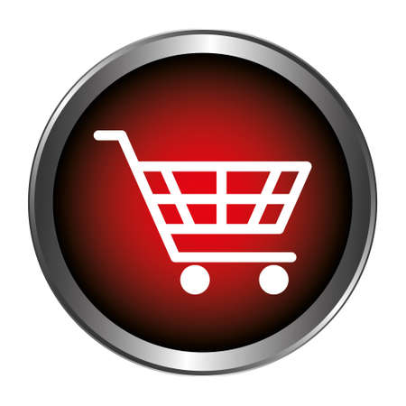 Shopping Trolley Button Stock Illustratie