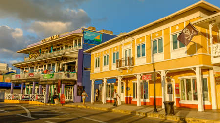 Grand Cayman, Cayman Islands, Nov 2017, in a heart of George Town by the Caribbean Sea