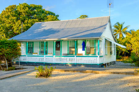 Grand Cayman, Cayman Islands, Nov 2017, Cayman cottage style house with corrugated tin roof Editorial