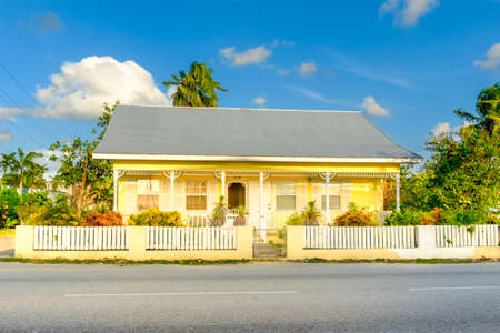 Grand Cayman, Cayman Islands, Nov 2017, Caribbean house style in George Town