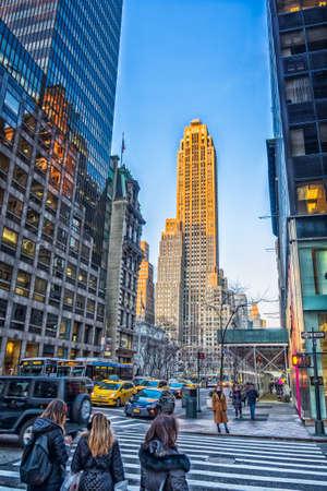 New York City, New York, USA, Jan 2018, vue sur le bâtiment 500 Fifth Avenue à partir d'une rue de Manhattan