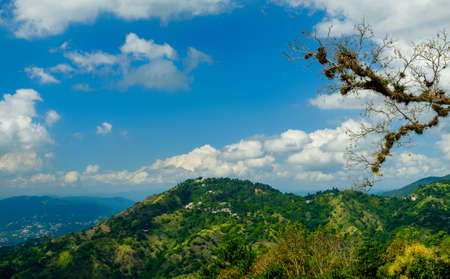 View from and of the Blue Mountains in Jamaica