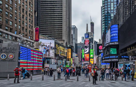 New York City, U.S.A, May 2019, urban scene at Times Square, Manhattan Editorial