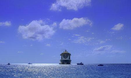 Grand Cayman, Cayman Islands, Jan 2019, the MSC Seaside cruise ship moored by George Town coast Reklamní fotografie