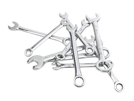 Spanner isolated on white background photo