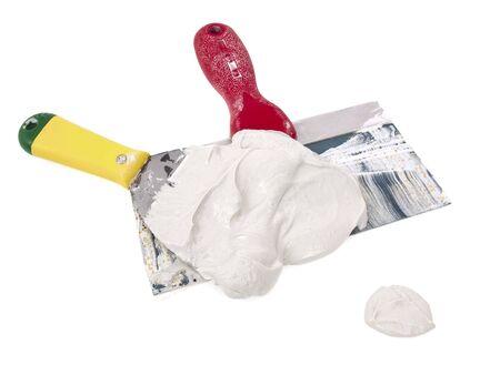 plastering: Plaster full trowels