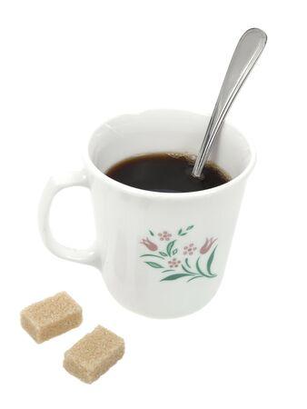 whithe: Taza de caf� aislado sobre fondo de whithe