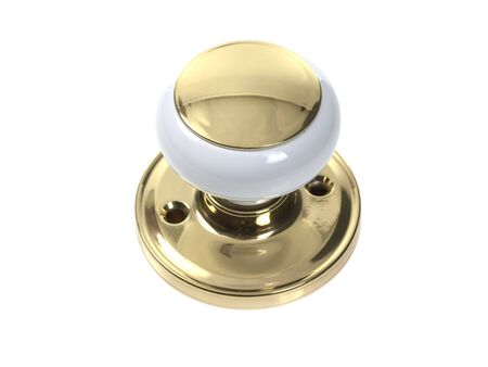 door knob: Door knob on pure white background