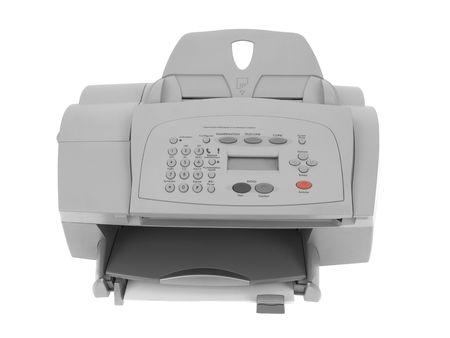 Fax printer isolated on white background 版權商用圖片