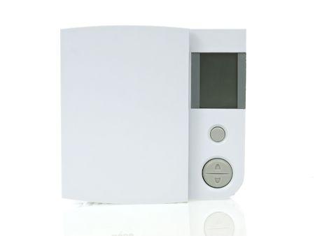 Thermostat isolated on white background photo