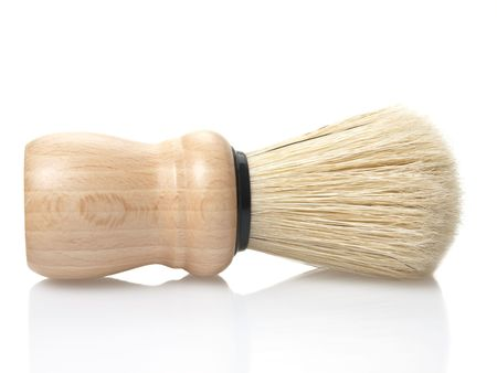 shaving brush isolated on white background 免版税图像