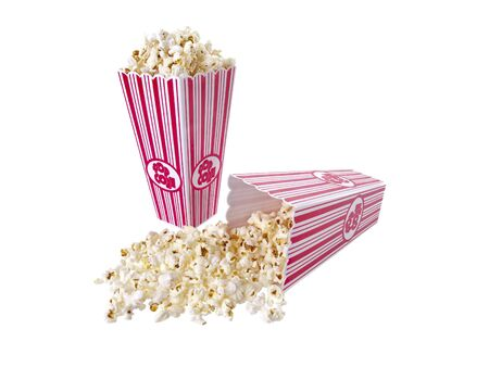 Pop Corn isolated on white background 版權商用圖片