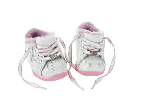 untied: Baby boot untied Stock Photo