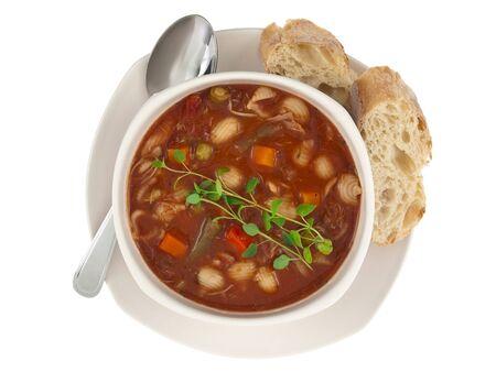Soup bowl topview Stock Photo