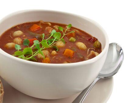Vista íntima de tazón de sopa Foto de archivo - 6501589