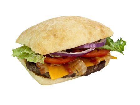 Hamburger blt 3/4 view