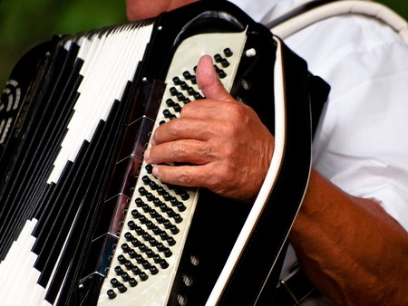 Detalles de jugador de acordeón  Foto de archivo - 7503827