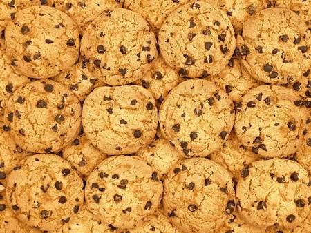 cookie chocolat: Les cookies p�pites de chocolat de papier peint arri�re-plan