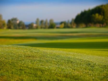 Golf fairway ground from view