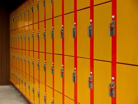 metalic texture: Lockers wallpaper perspective