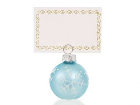 Christmas place card holder in ball shape photo