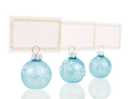 Christmas place cards holders in ball shape inline view