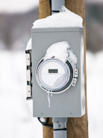 electric grid: Electric meter box