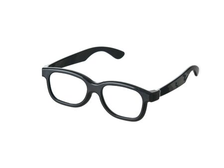 geeky: Geeky funny black glasses on pure white background