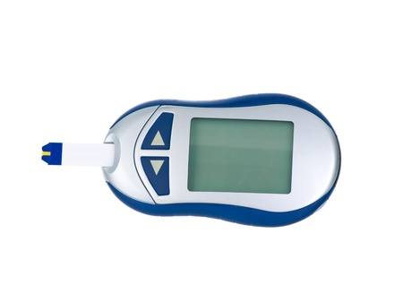 Glucometer  isolated on pure white background