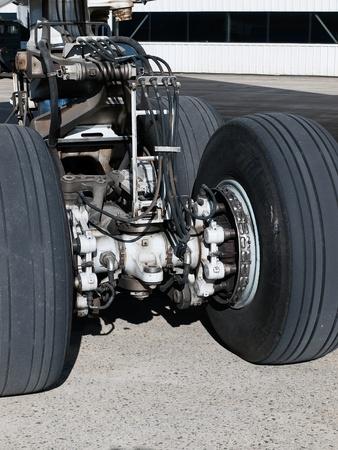 Vista meccanico del carrello di atterraggio