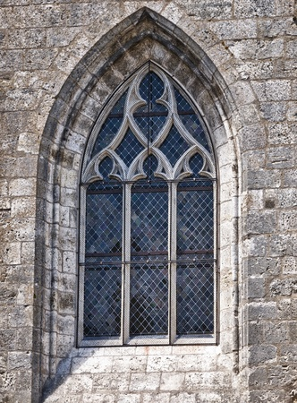 window: Old gothic cathedral window