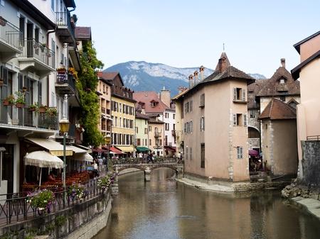 Antiguo Annecy, Francia, general de la ciudad vista Foto de archivo - 12206181