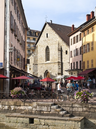 Old Annecy church, France,  city general view
