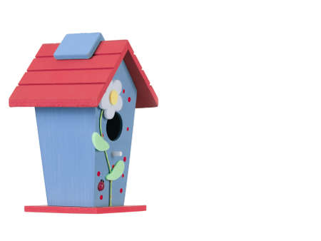 birdhouse: Bird houses isolated on white background Stock Photo