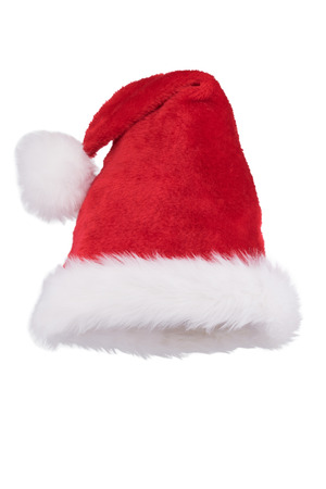 tradional: Santa hat with folded tip isolated on white background