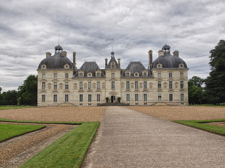 Cheverny Castel in Loire Valley,  France - July 10, 2012 - Front side