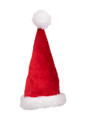 Santa's hat standing straight isolated on pure white background 版權商用圖片